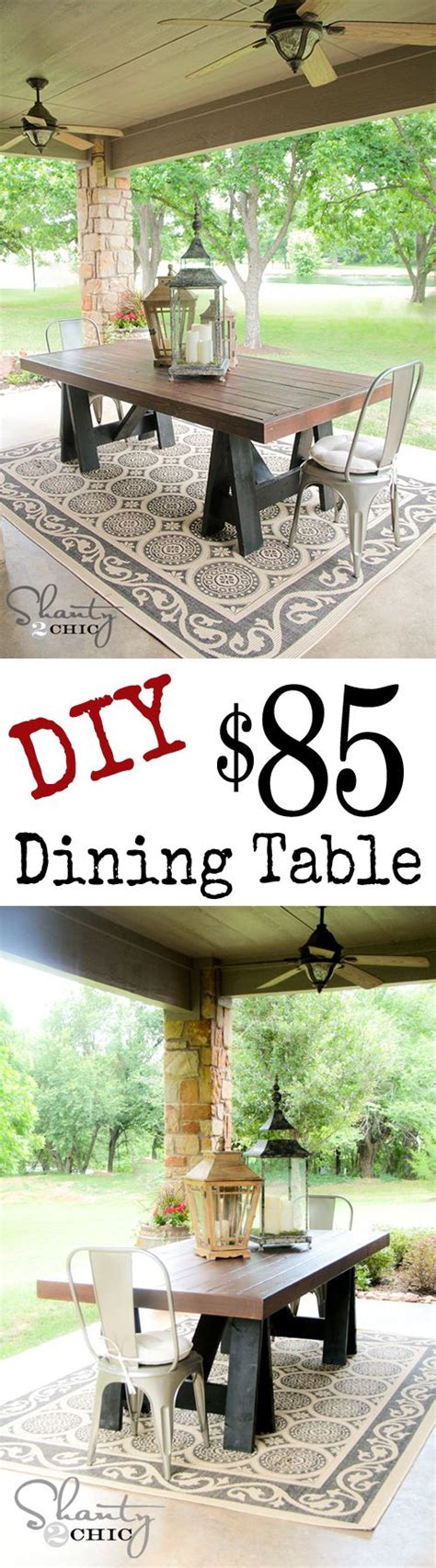 Diy Outdoor Dining Table Diy Pottery Barn Dining Table Shanty2chic Back Yard Oasis