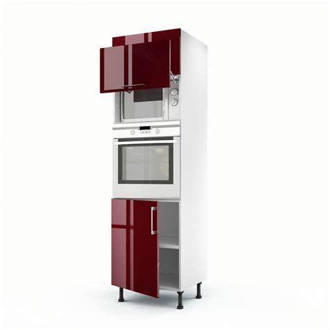 meuble colonne cuisine leroy merlin meuble de cuisine colonne 3 portes griotte h 200 x l