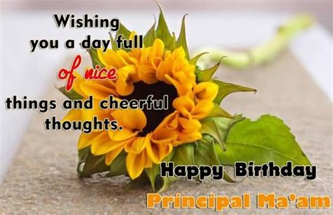 Happy Birthday Ma Am Quotes 100 Beautiful Birthday Cards And Wishes For Principal