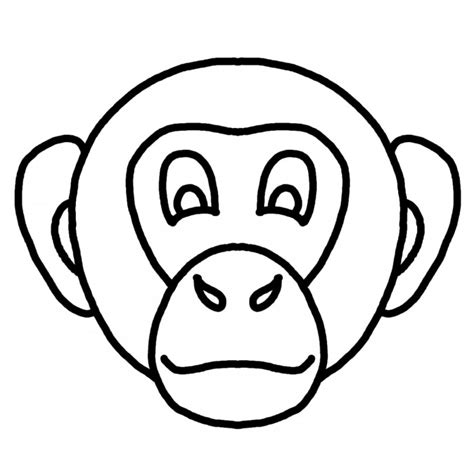 coloring page of a monkey face monkey face coloring pages az coloring pages