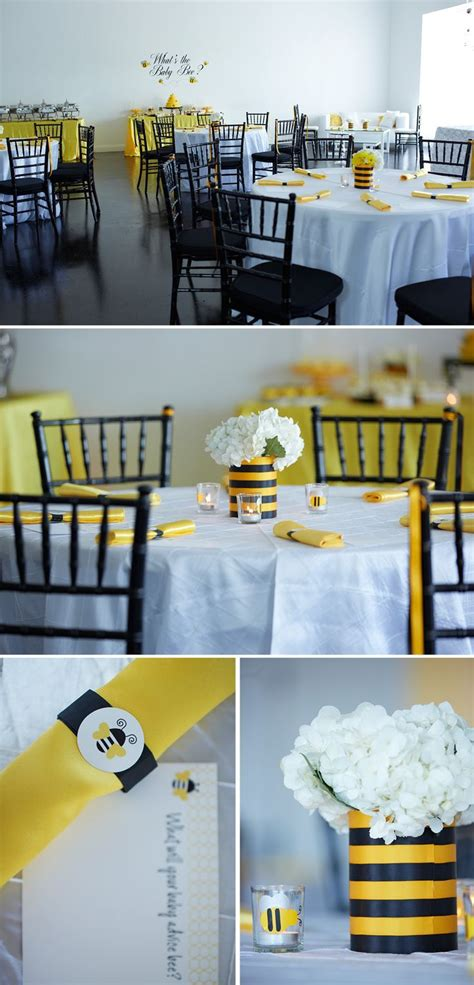 Black And White Themed Baby Shower by Black And White Sophisticated Bee Themed Baby Shower