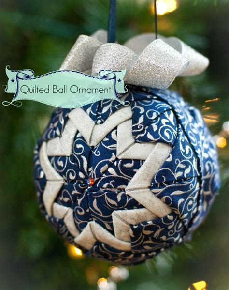 almost no sew quilted ball ornament sew mccool