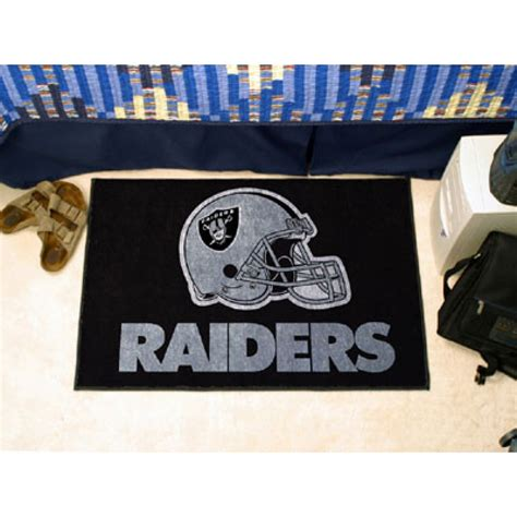 raiders rug nfl oakland raiders starter rug