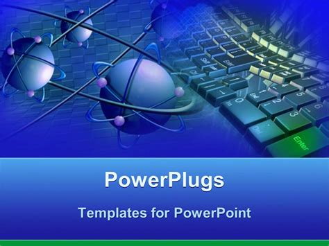 powerpoint templates for technology presentations powerpoint template blue atoms with purple electrons and