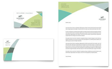 Design A Business Card Template In Word by Financial Advisor Business Card Letterhead Template Design