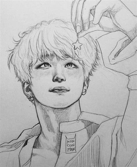 Kpop Sketches by Pin By Yoongay On Bangtan Bts Bts Drawings