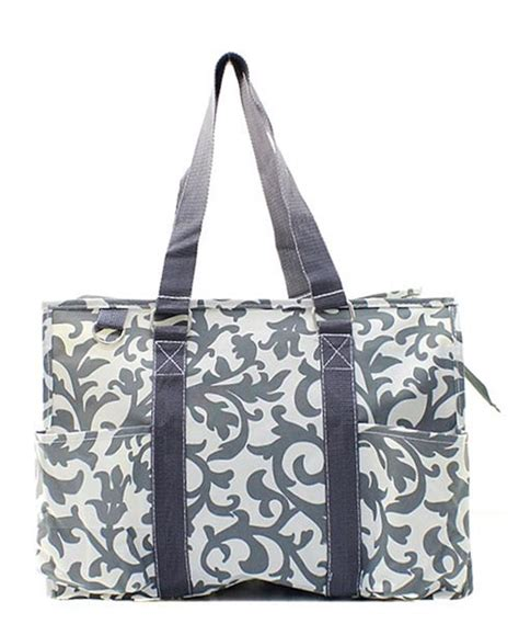 canvas zip tote 18 quot large zip top organizing utility tote bag canvas