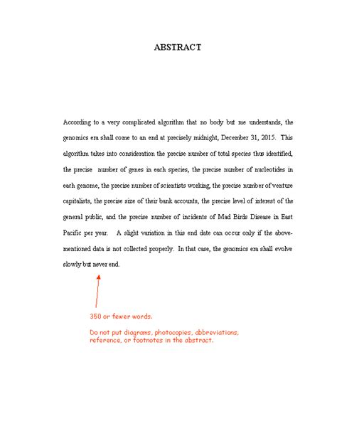 Thesis Abstract Page | thesis abstract page