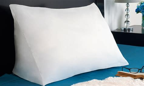 reading wedge bed pillow down alternative wedge pillow groupon goods