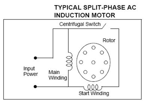 wiring diagram for a split phase induction motor 3 phase