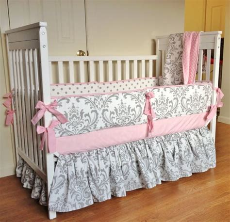 pink and grey crib bedding sets crib bedding baby girl bedding set pink gray damask