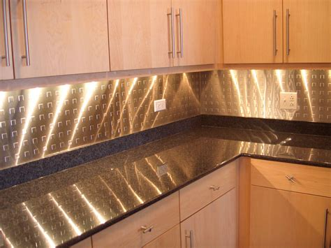 Kitchen Metal Backsplash Ideas Kitchen Backsplash Stainless Steel Interiordecodir