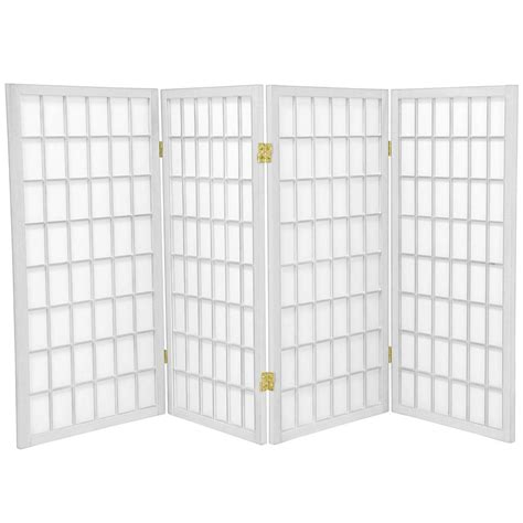 3 ft white 4 panel room divider wp36 wht 4p the home depot