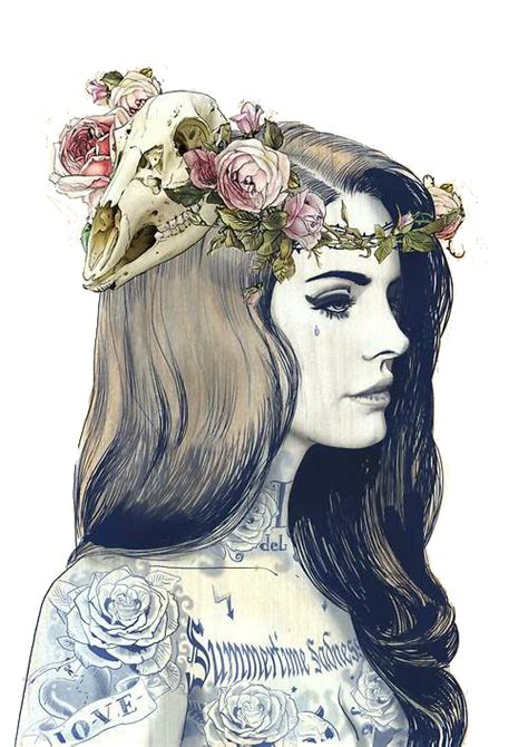 tattoo girl png skull with roses drawings