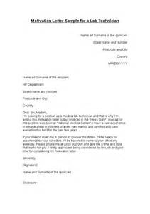Motivation Letter Motivation Letter Sle For A Lab Technician Hashdoc