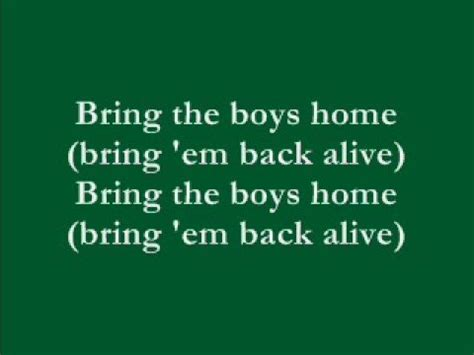 quot bring the boys home quot by freda payne with lyrics