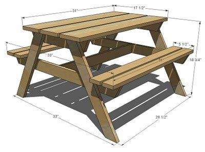 wood shop picnic bench construction plans