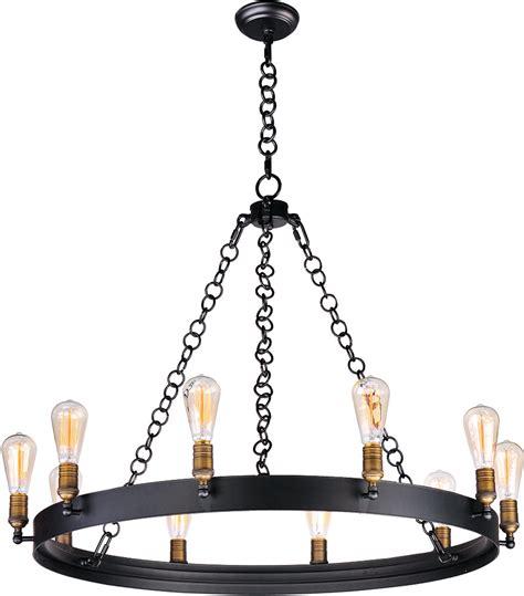 maxim 26275bknab noble modern black aged brass chandelier lighting max 26275bknab