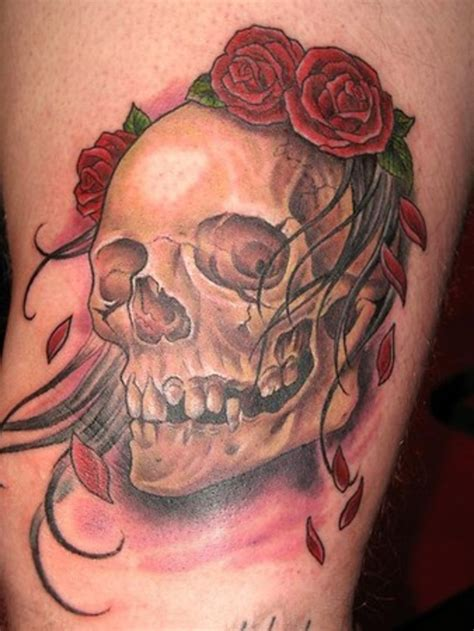 tattoos of skulls with roses top skull designs project 4 gallery
