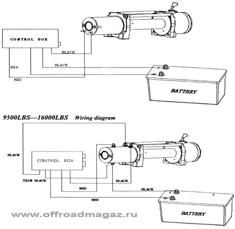 warn winch wiring diagram 2 solenoid circuit and