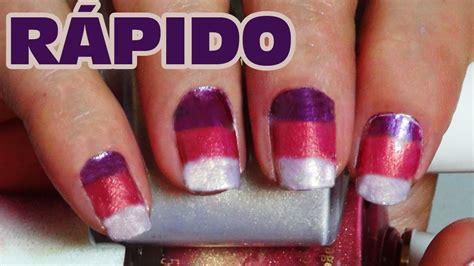 imagenes de uñas decoradas solo con esmalte u 241 as decoradas con esmalte y esponja tip para resaltar