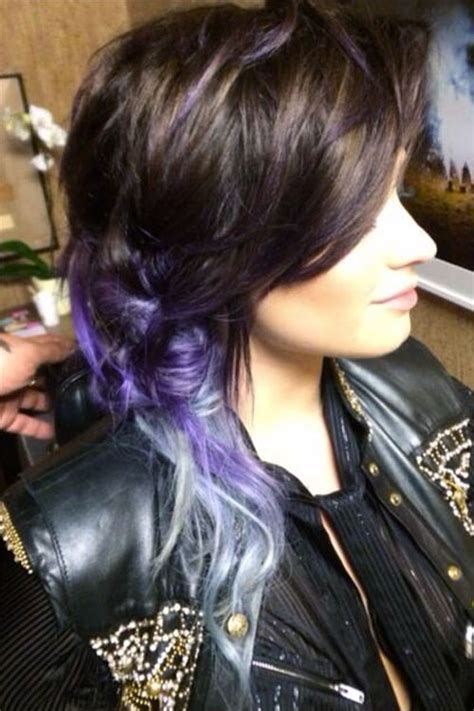 demi lovato inspired pink purple dip dye ombre hair 1000 images about demi lovato