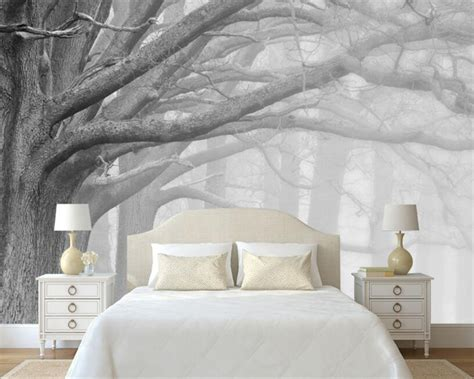 black and white tree wallpaper for walls beibehang 3d wallpaper living room bedroom murals modern