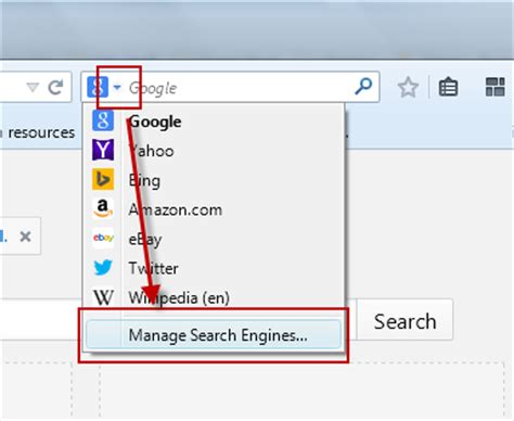 Change Search Engine Firefox Address Bar How To Turn Your Address Bar Into A Custom Search Engine
