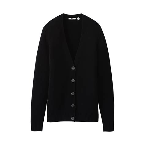 Cardigan Uniqlo Uniqlo Soft Lambswool V Neck Cardigan In Black Lyst