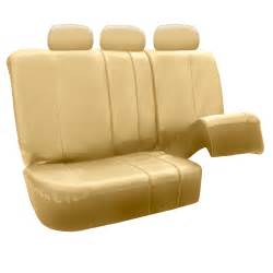 split seat covers premium leatherette split bench seat covers ebay
