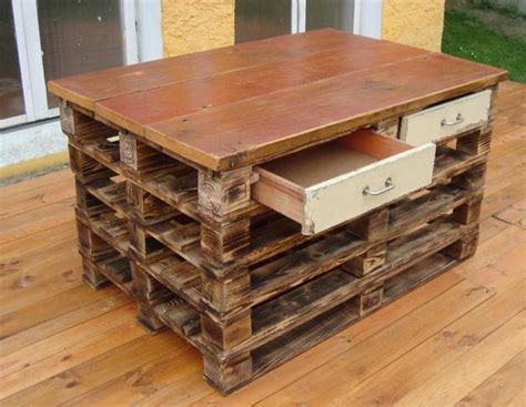 pallet kitchen island bench recycling wood pallets for building everything in your home