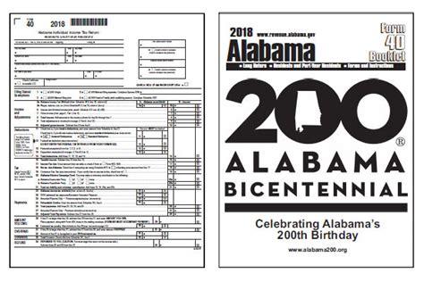 alabama tax forms 2018 printable alabama state form 40