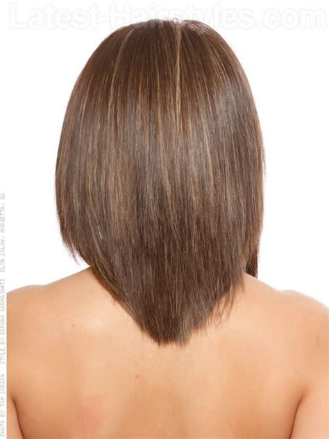 medium length v cut with layers hair tutorial v back stylish medium cut back view hair