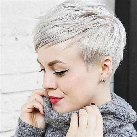 short hair bam beautiful platinum pixie cut by