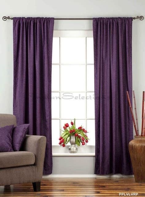 purple velvet curtains ideas   parts   house