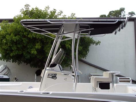 tee tops for center console boats custom marine t tops for center consoles by action welding