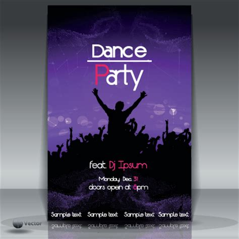dance party flyer cover template vector 05 vector cover
