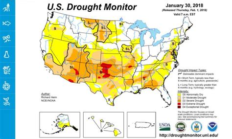 map of the united states please climate signals january brought largest drought