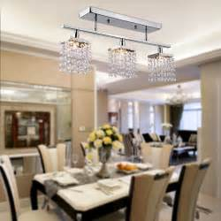 Modern Ceiling Lights For Dining Room Us Modern Crystal Chandelier Ceiling Lamp 3 Lights Pendant