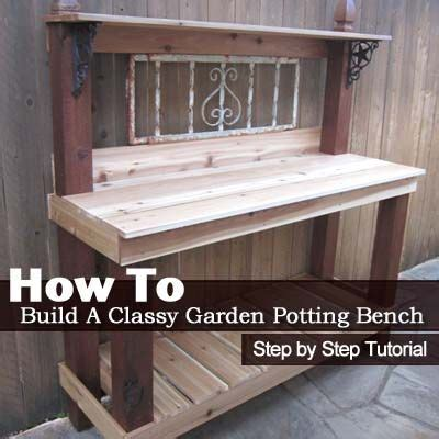 how to build a potting bench diy furniture how to build a classy garden potting bench