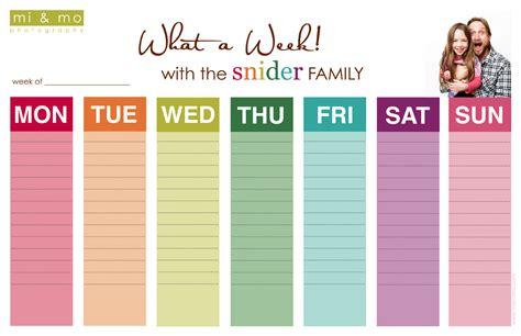 printable weekly calendar cute 5 best images of fun weekly calendar printable free