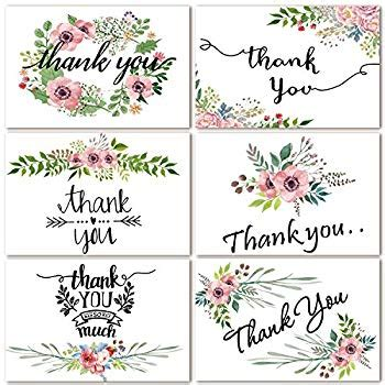 Thank You Note For Office Baby Shower by Thank You Cards 40 Floral Thank You Notes
