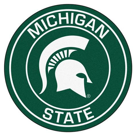 Funny Doormats michigan state university spartans logo roundel mat 27 quot