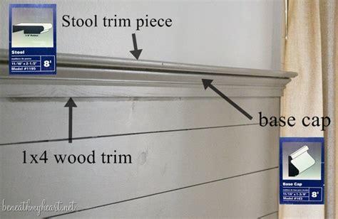 cap   wood plank wall  decorative trim