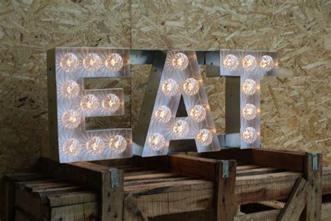 eat light up sign eat light up letters sign illuminated signs vintage