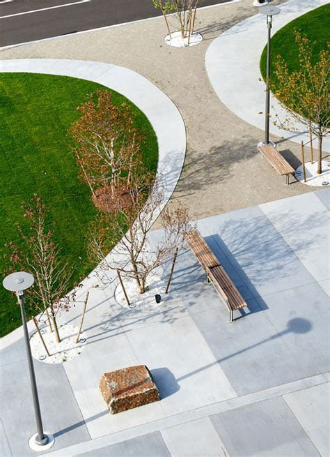 Landscape Architecture Umass Plaza And Coorporate Roof Garden Landscape