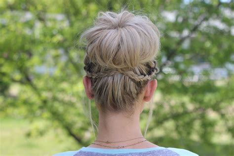 how to do a updew with a sew in bamg waterfall bun updo cute girls hairstyles