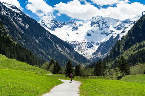 sunny day in the mountains a mountain of the alps switzerland before beautiful scenery of stiluptal on a sunny day with