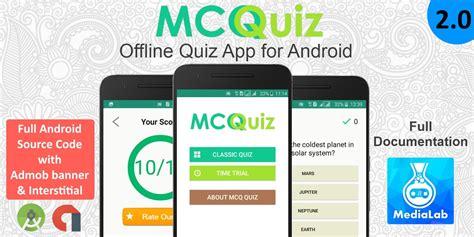 Android Quiz App by Mcq Quiz Android Quiz App Template Quiz And Trivia App