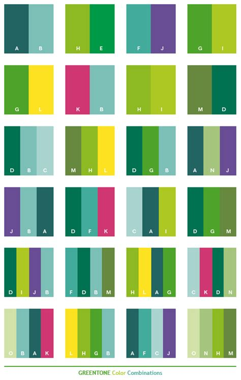 Green Combination | green tone color schemes color combinations color
